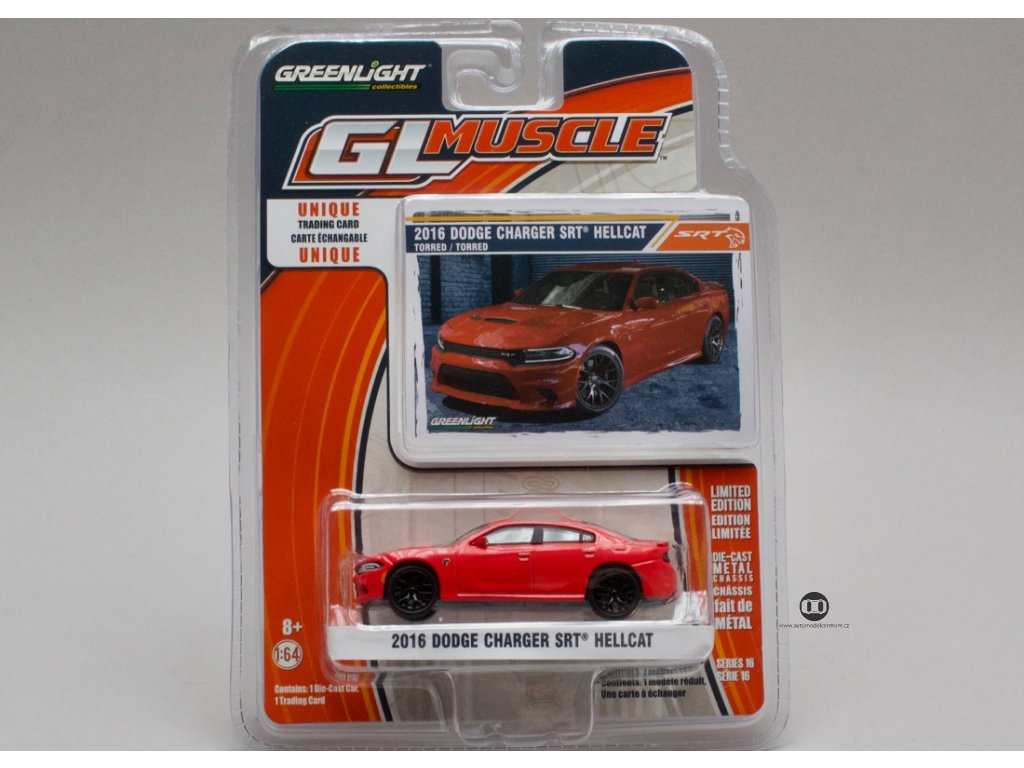 Dodge Charger SRT 2016 Hellcat červená 1:64 Greenlight