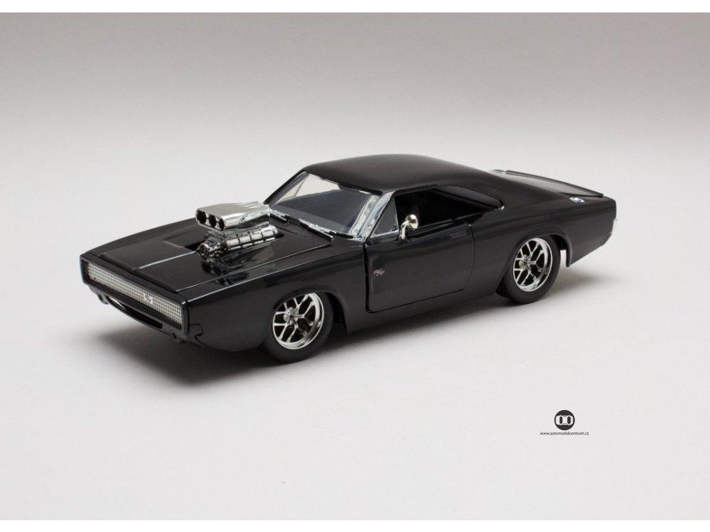 Dodge Charger R/T 1970 Dom`s Rychle a zb.černá lesklá 1:24 Jada Toys