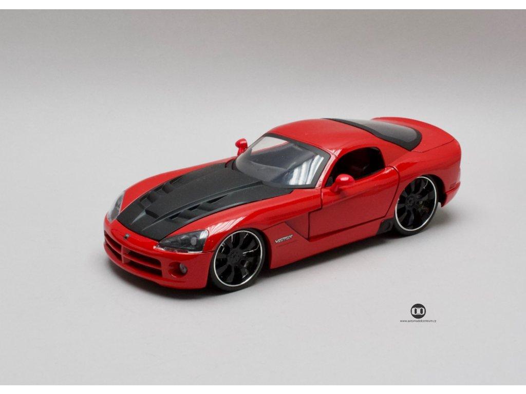 Dodge Viper SRT10 2008 červená - černá kapota 1:24 Jada Toys