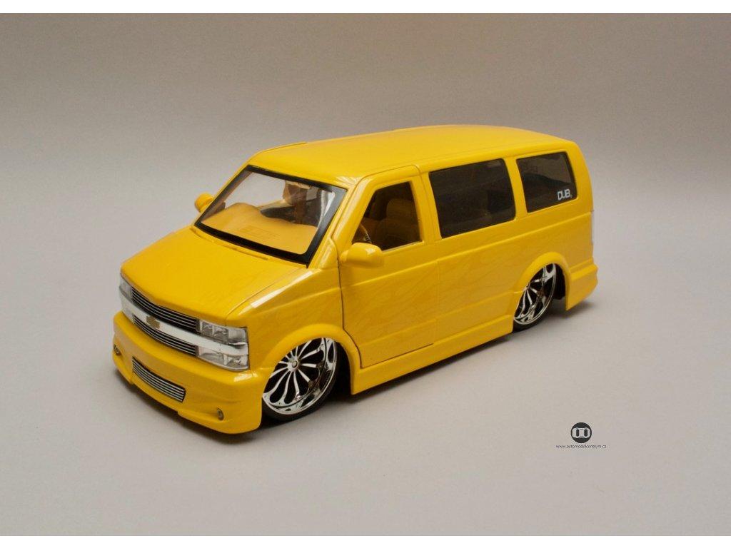 Chevrolet Astro Van žlutá s plameny 1:18 Jada Toys