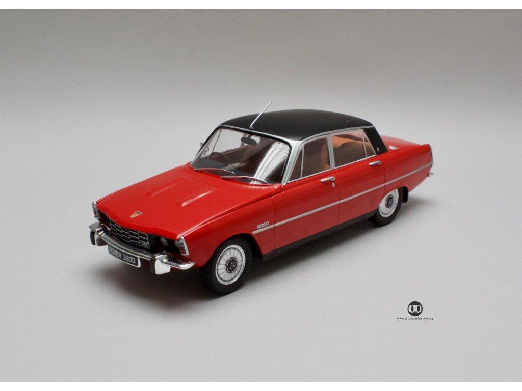 Rover 3500 V8 1974 červená - černá střecha RHD 1:18 MCG