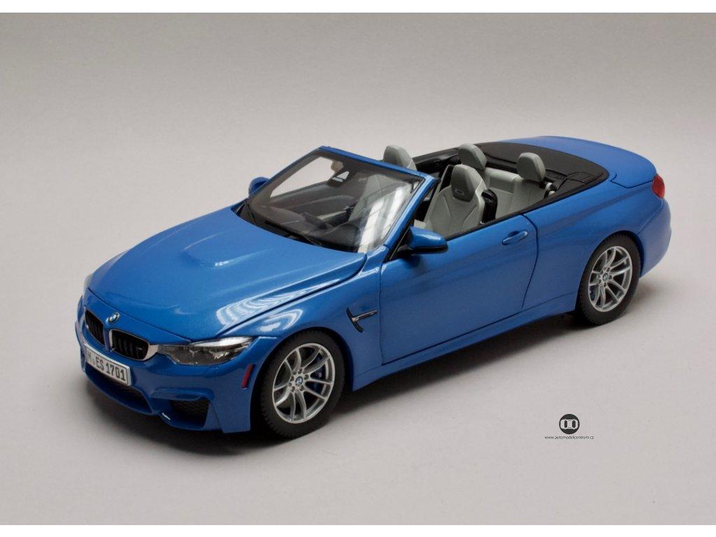 BMW M4 F83 Convertible 2015 modrá 1:18 Paragon