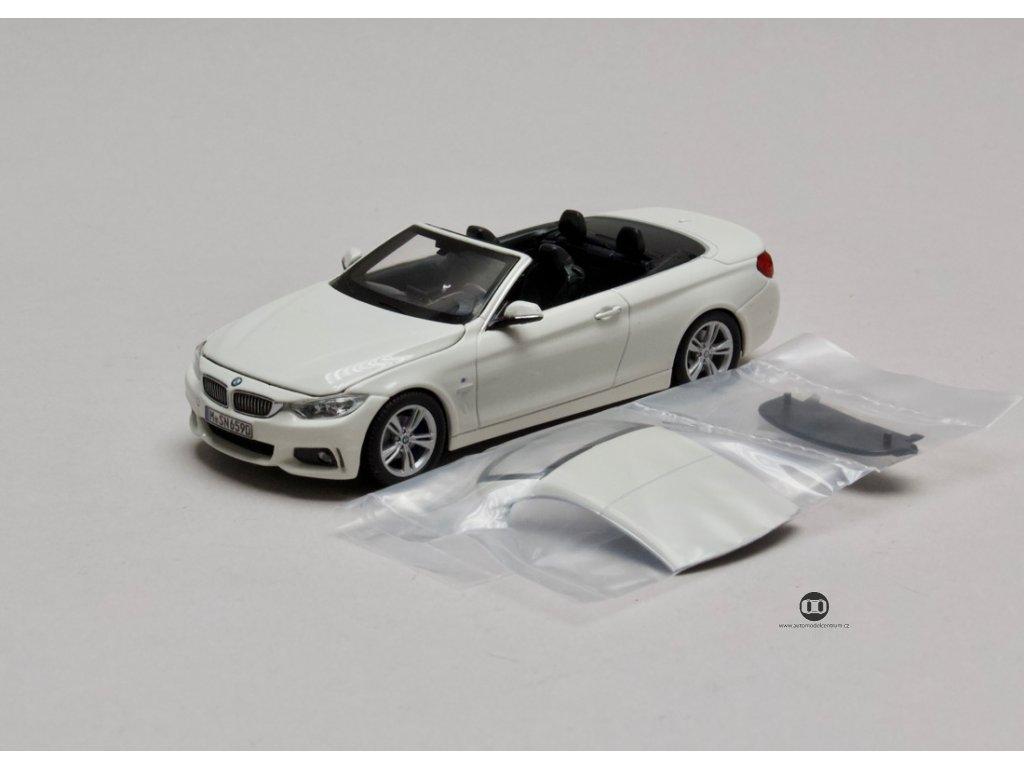 BMW 4 Series Cabriolet bílá + střecha 1:43 i-scale