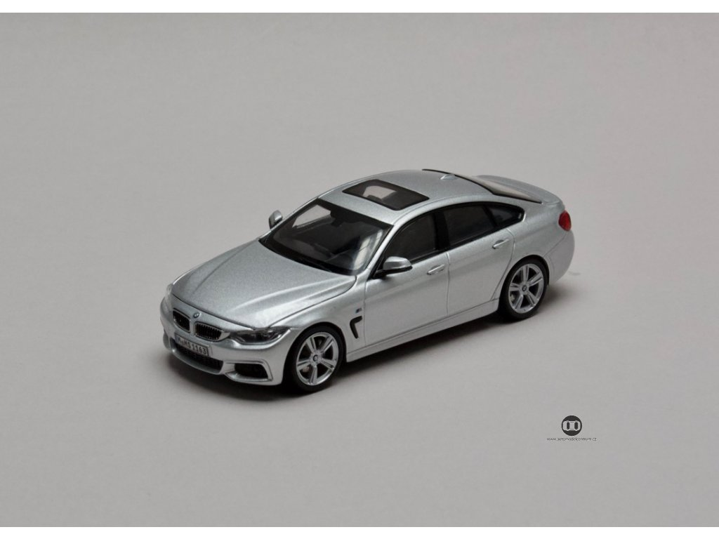 BMW 4 Series Grand Coupé 2014 stříbrná (F36) 1:43 Kyosho