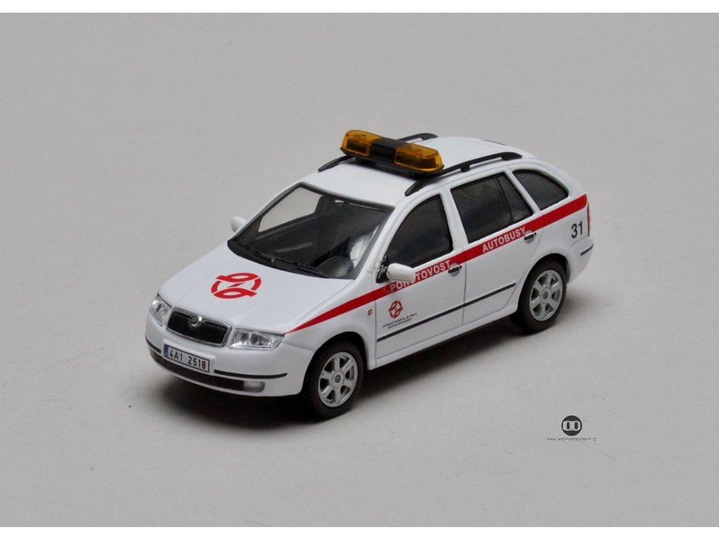 Škoda Fabia Combi DP Praha Pohotovost Autobusy 1:43 Abrex
