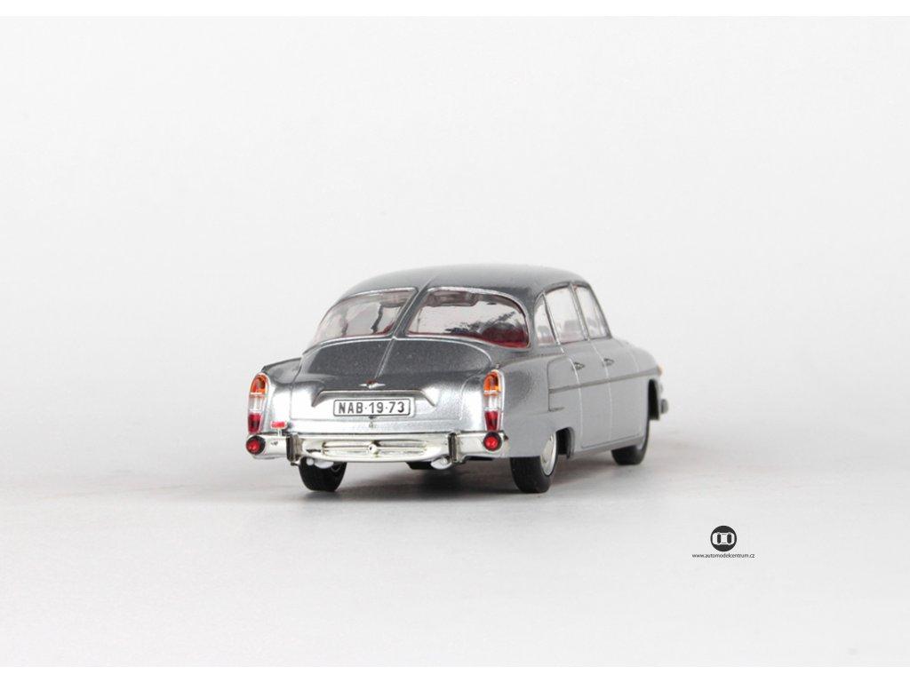 Tatra 603 1969 stříbrná metalíza červený interier 1:43 Abrex