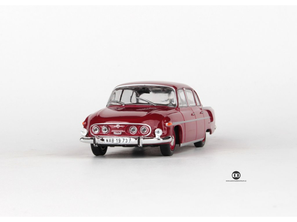Tatra 603 1969 červená tmavá černý interier 1:43 Abrex