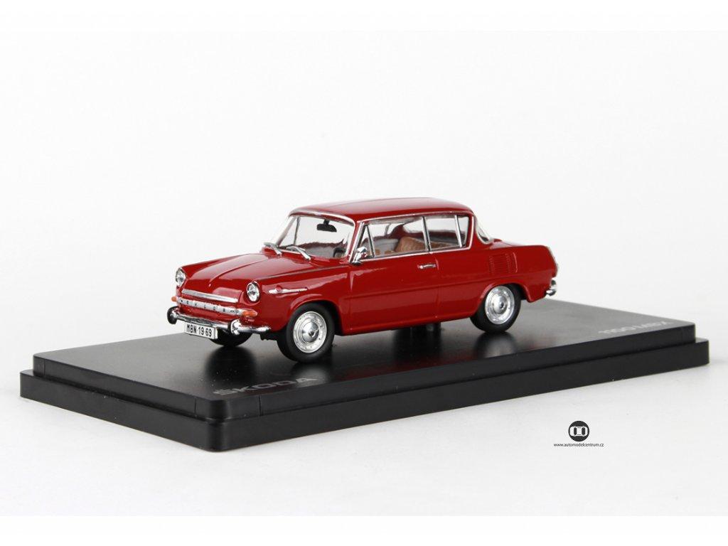 Škoda 1100MBX 1969 červená rubínová 1:43 Abrex