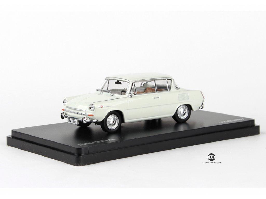 Škoda 1100MBX 1969 šedá levandulová 1:43 Abrex