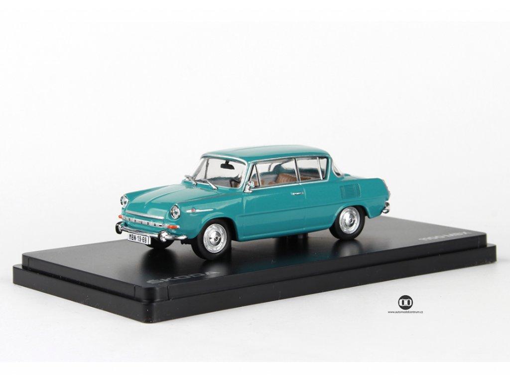 Škoda 1100MBX 1969 tyrkysová světlá 1:43 Abrex