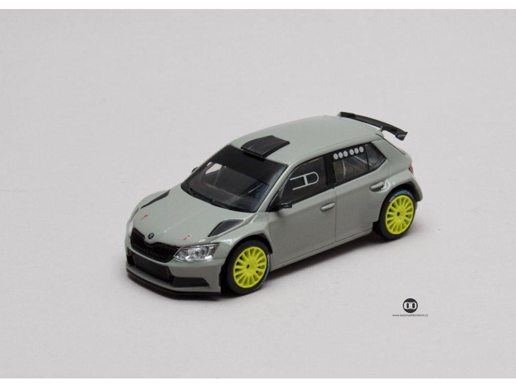 Škoda Fabia III R5 2015 šedá Steel Uni 1:43 Abrex