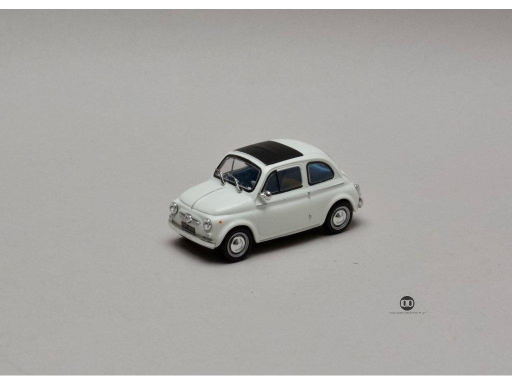 Fiat 500 bílá 1:43 Atlas