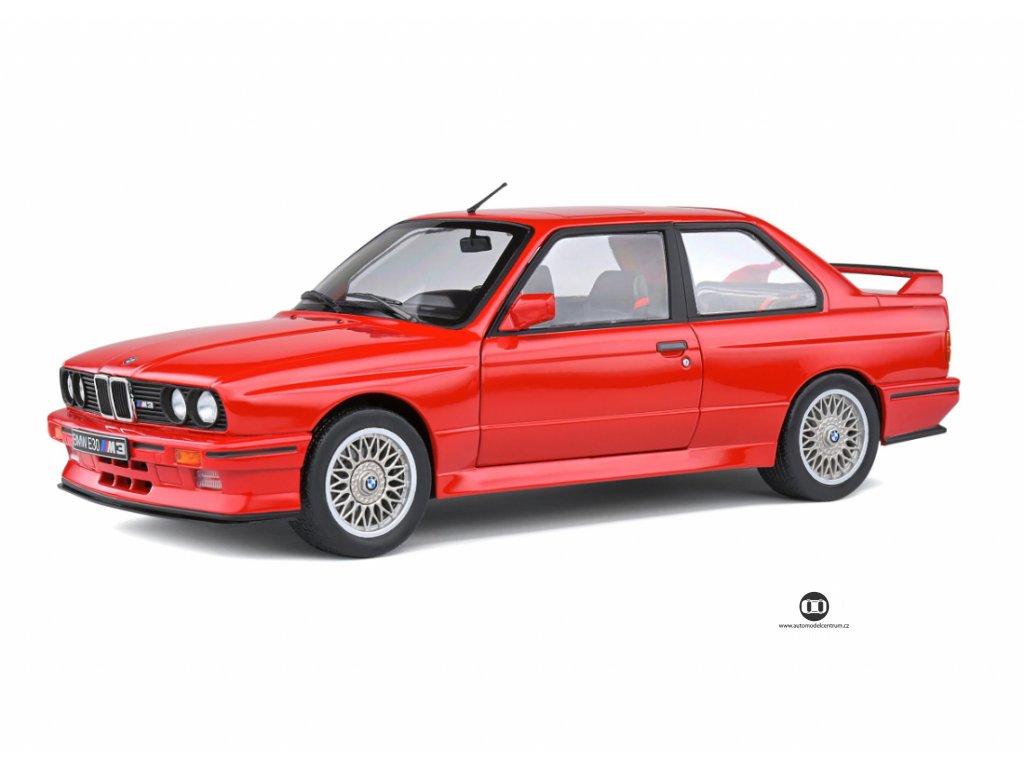 BMW M3 E30 Sport Evo 1990 červená 1 18 Solido 1801502 01