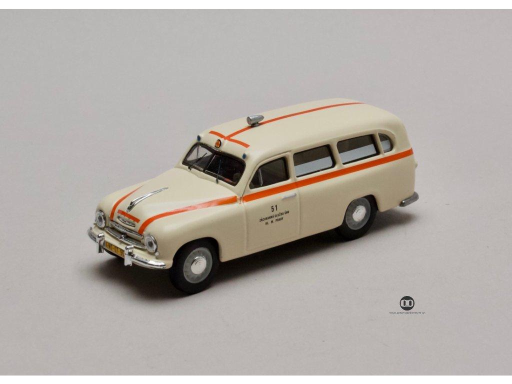 Škoda 1201 1956 Sanitka - Záchranka 1:43 Abrex