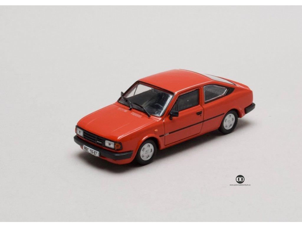 Škoda Rapid 136 1987 červená Korálová 1:43 Abrex