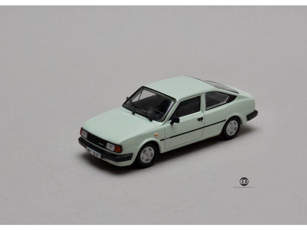 Škoda Rapid 136 1987 bílá Ledová 1:43 Abrex