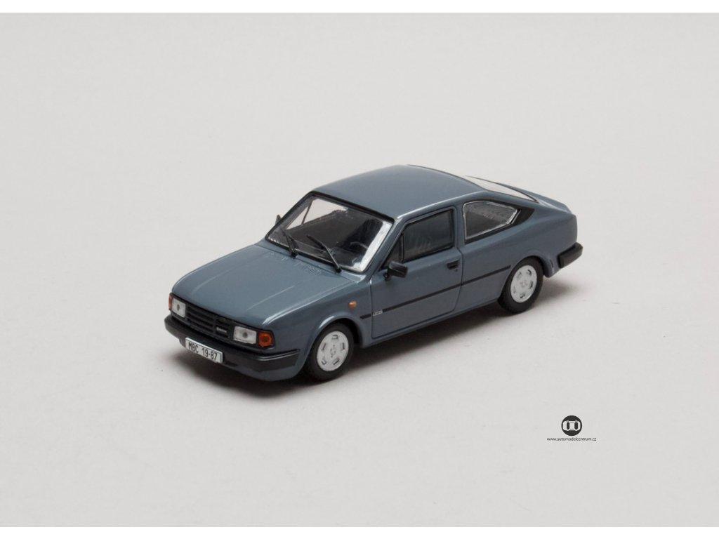 Škoda Rapid 136 1987 šedomodrá tmavá 1:43 Abrex