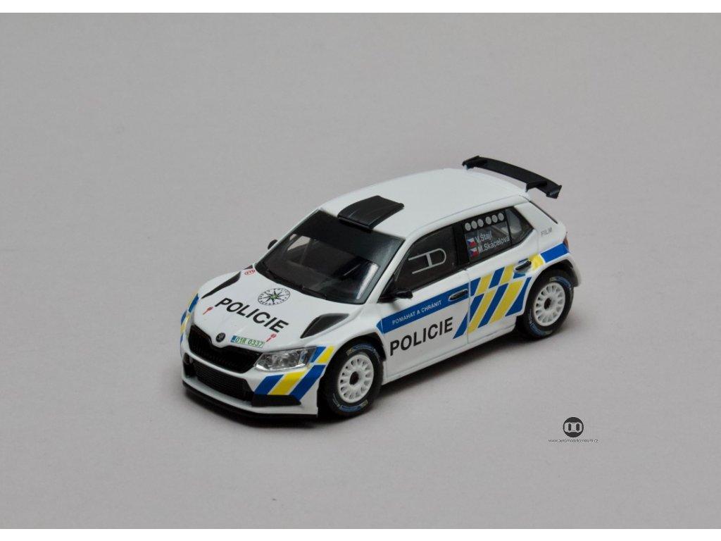 Škoda Fabia III R5 2015 Policie ČR 1:43 Abrex