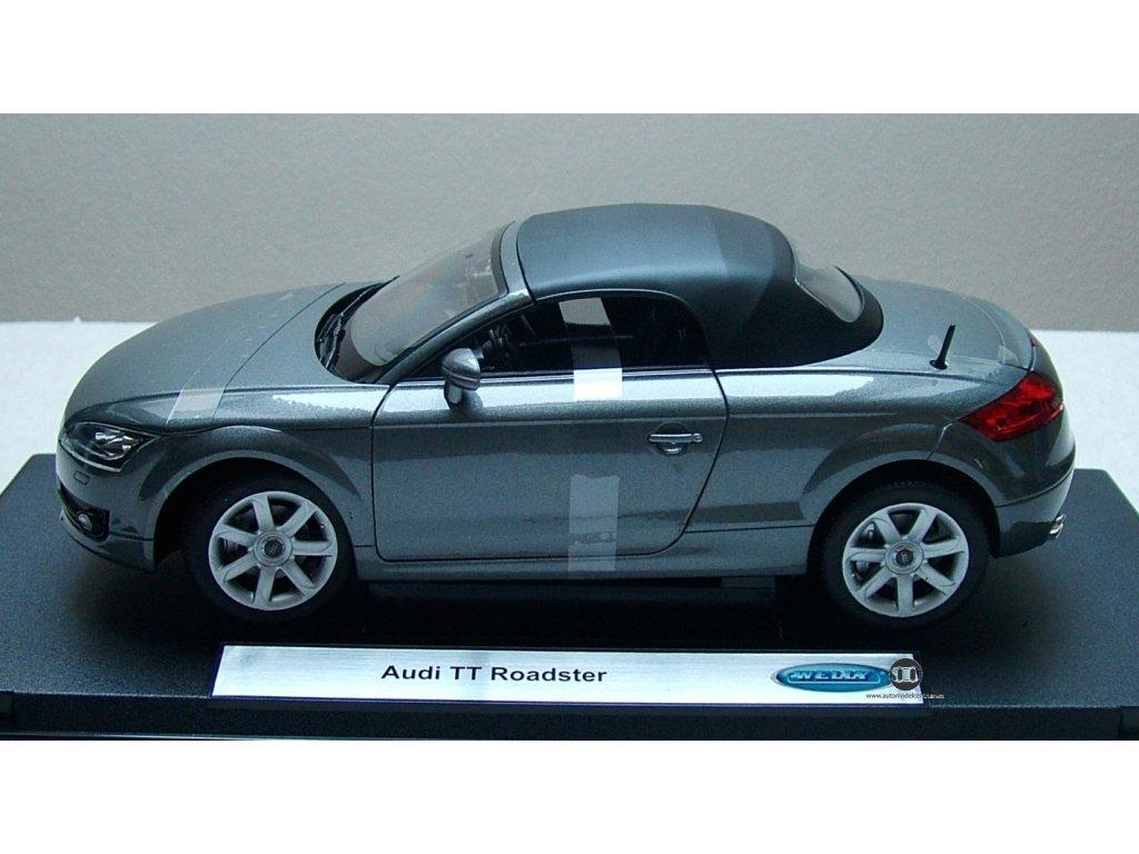 Audi TT roadster softtop metalíza šedá 1:18 Welly
