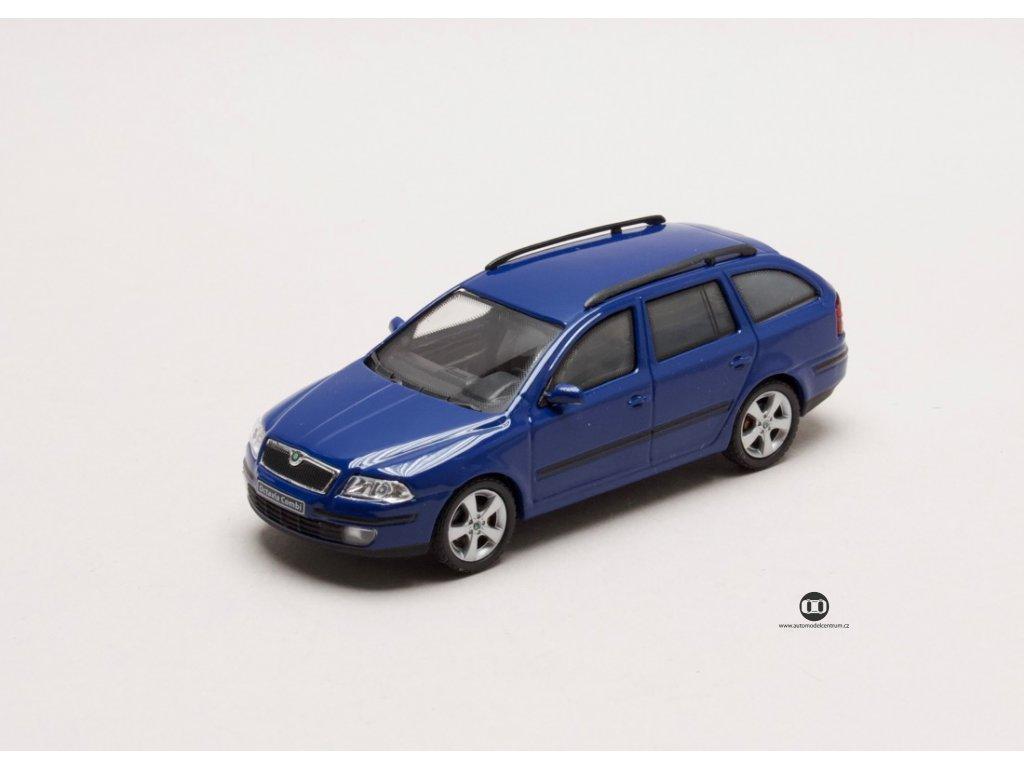 Škoda Octavia II Combi 2004 modrá Dynamic 1:43 Abrex