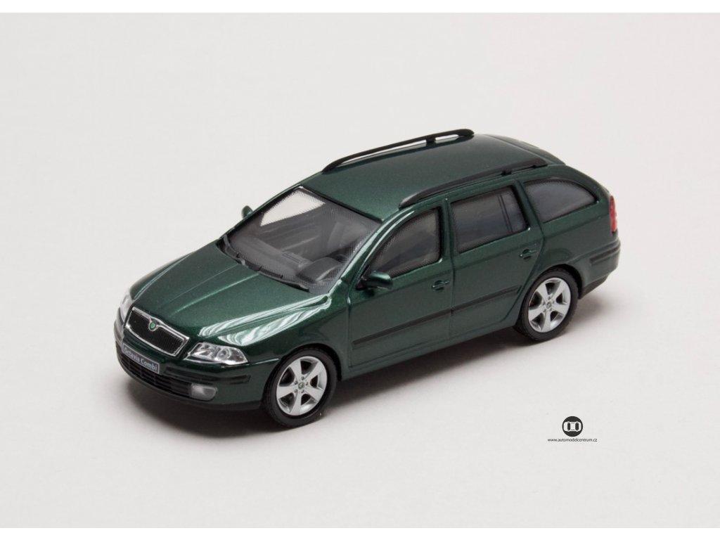 Škoda Octavia II Combi 2004 zelená Natur 1:43 Abrex