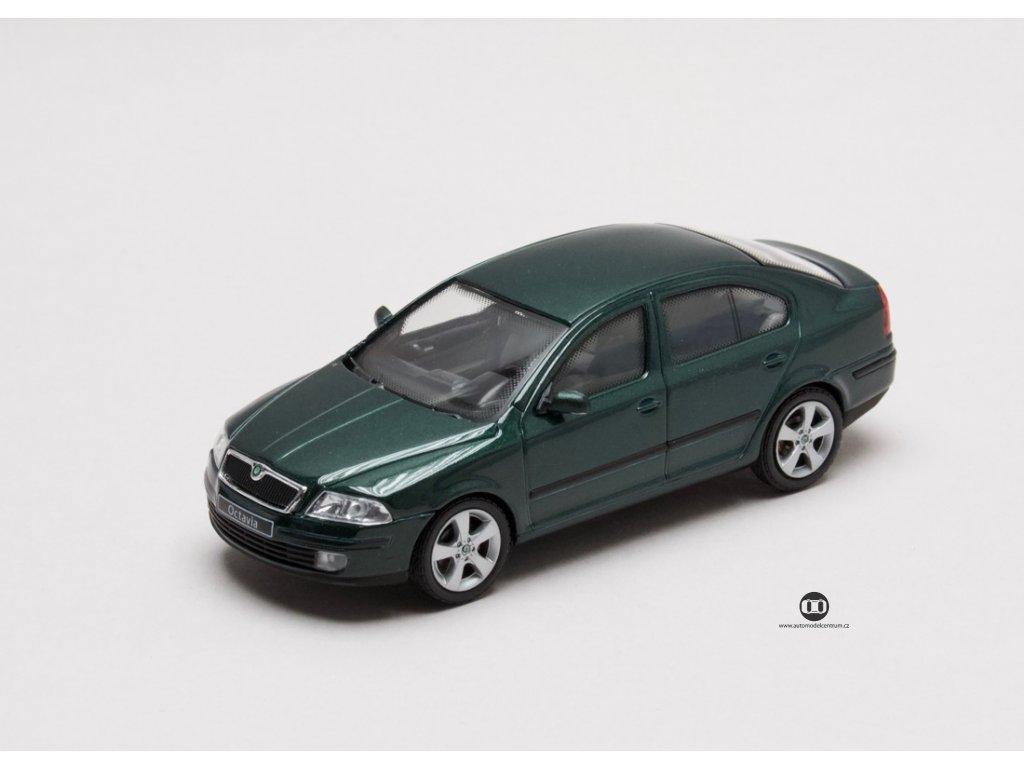 Škoda Octavia II 2004 zelená Natur 1:43 Abrex