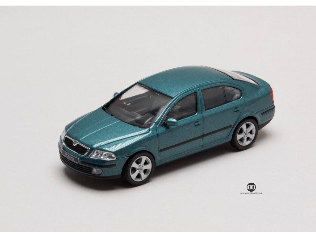 Škoda Octavia II 2004 zelená Island1:43 Abrex