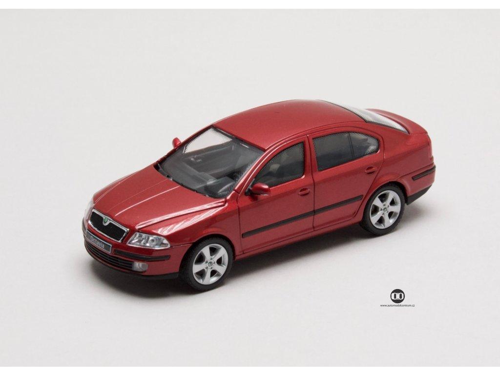 Škoda Octavia II 2004 červená Flamenco 1:43 Abrex