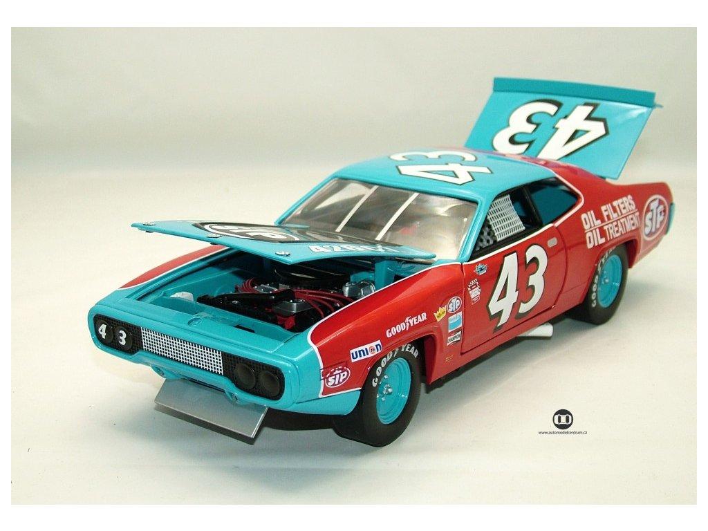 Plymouth 1972 Road Runner Richard Petty #43 STP NASCAR 1:18 Auto World American Muscle Ertl