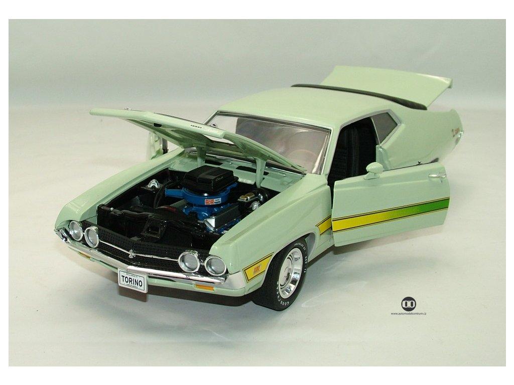 Ford Torino Cobra 1971 zelenkavá 1:18 Auto World American Muscle Ertl
