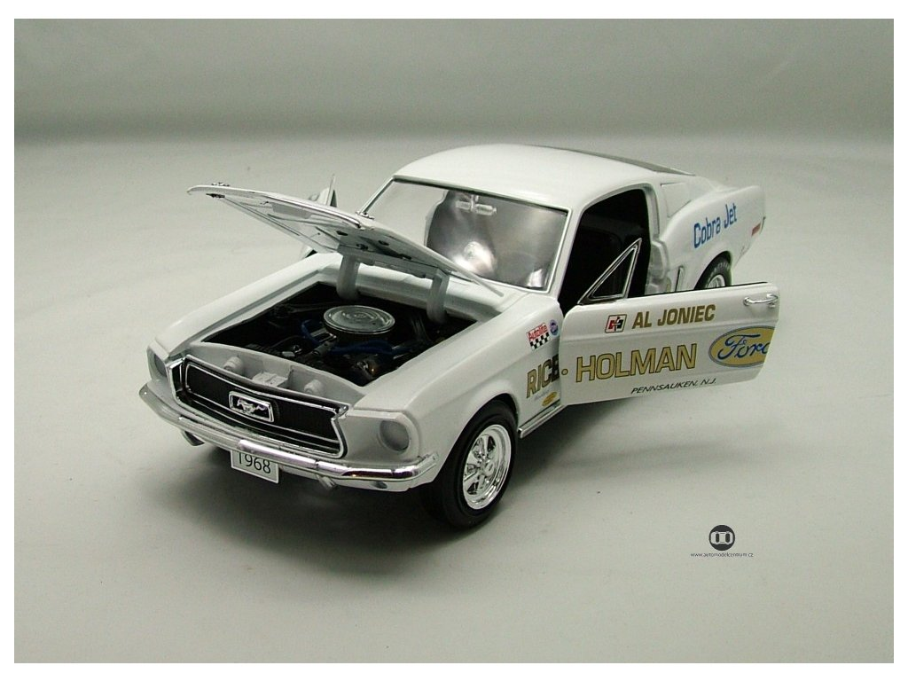 """Ford Mustang Super Stock 1968 """"Cobra Jet"""" 1:18 Auto World American Muscle Ertl"""