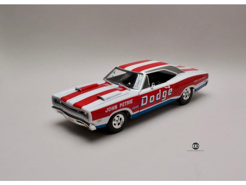 Dodge Coronet Super Bee 1969 John Petrie bílo-červená 1:18 Auto World