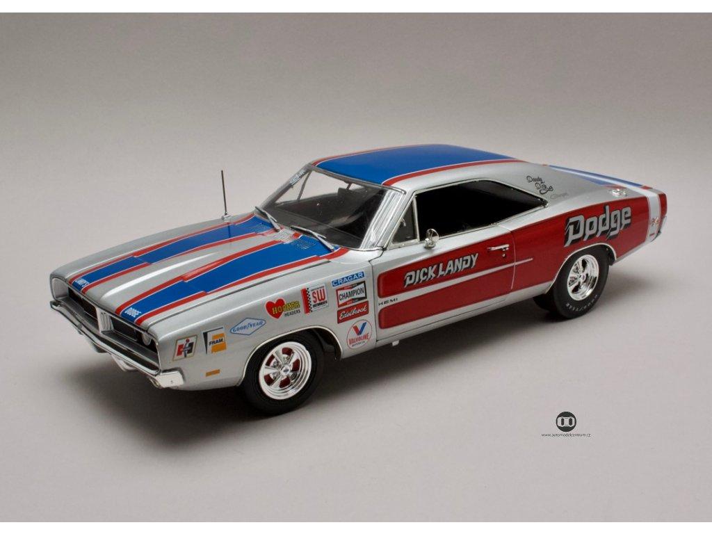 Dodge Charger R/T 1969 Dick Landy stř-modro-červená 1:18 Auto World