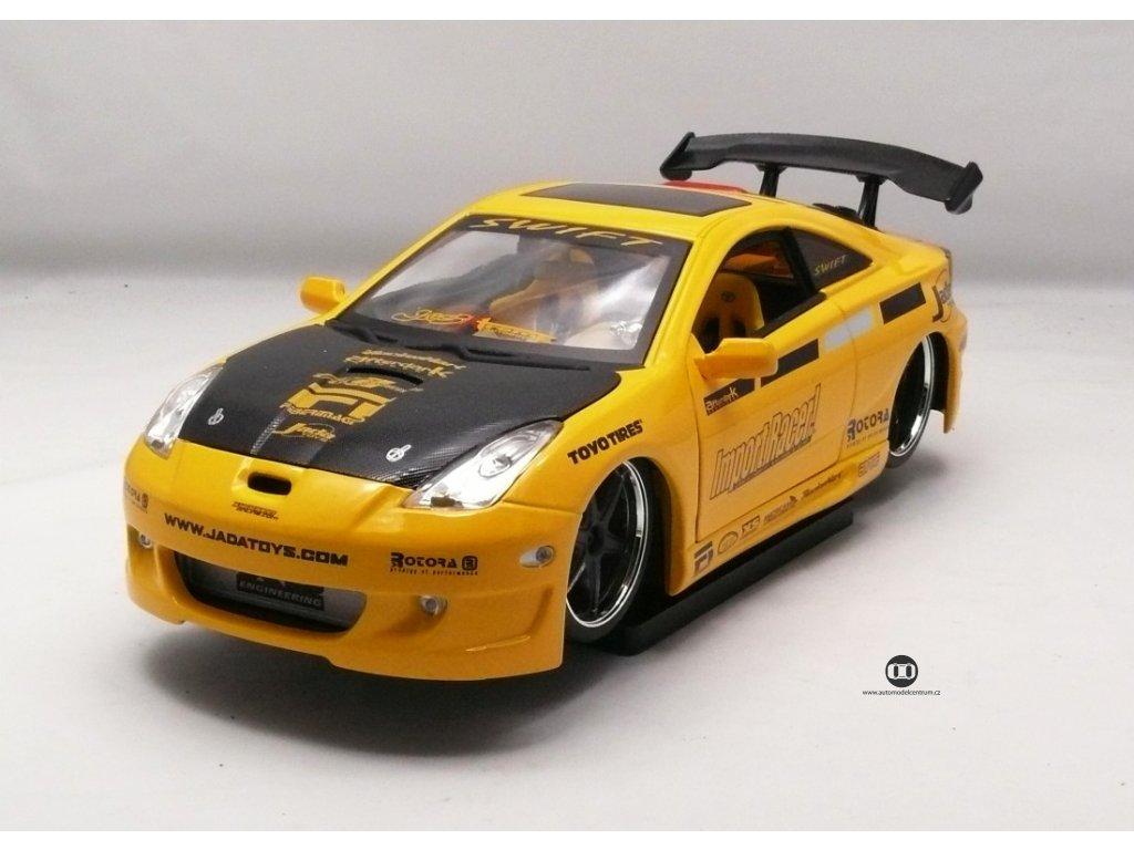 Toyota Celica 2002 žlutá 1:18 Jada