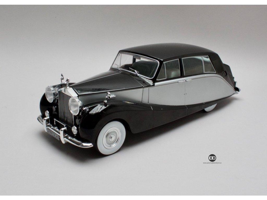 Rolls Royce silver Wraith Empress by Hooper RHD 1956 černá-stříb. 1:18 MCG