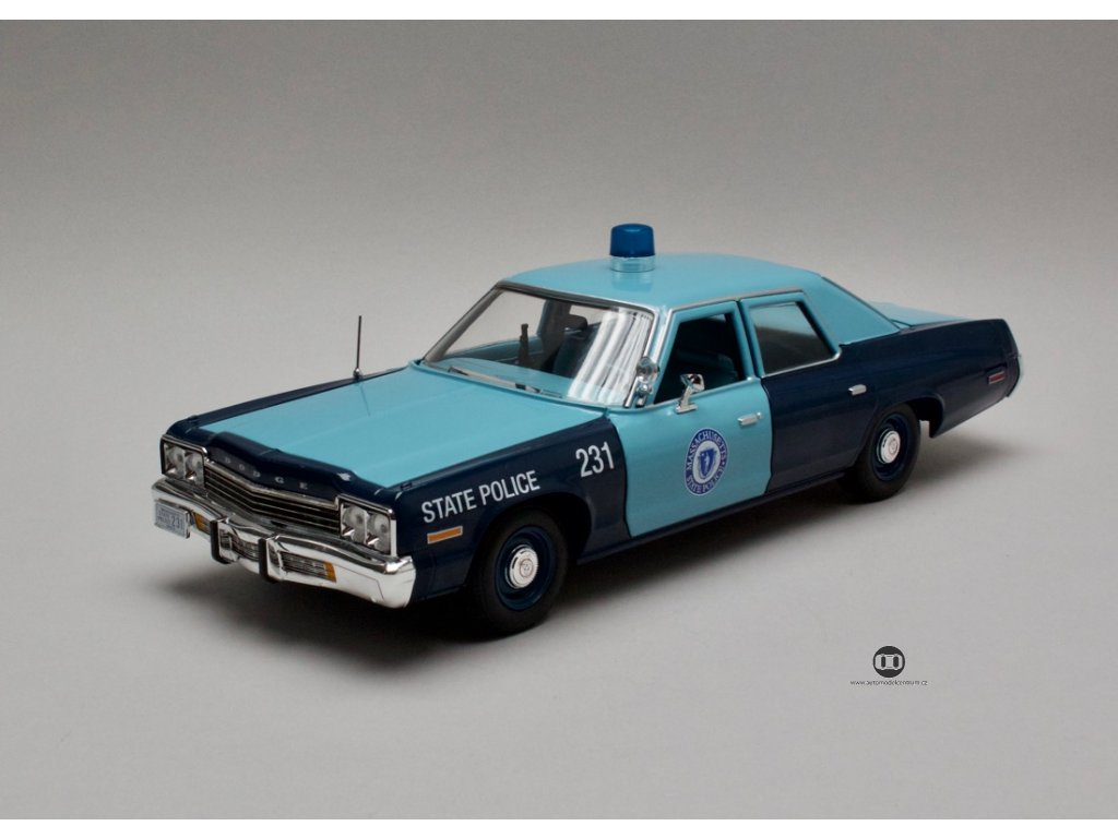 Dodge Monaco 1974 Massachusetts State Police 1:18 Auto World