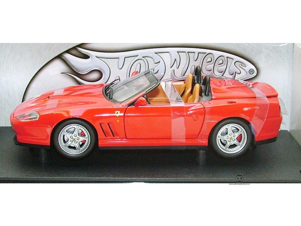 Ferrari 550 Barchetta červená 1:18 Hot Wheels