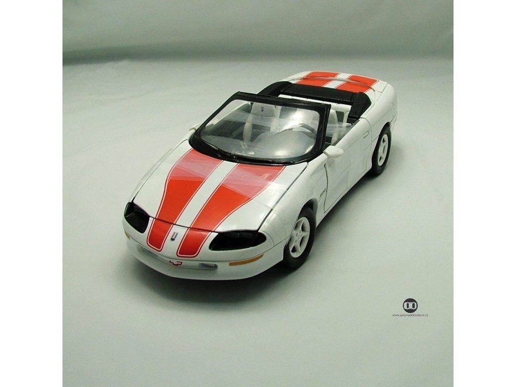 Chevrolet Camaro Z28 1996 bílá - oranž pruhy 1:18 Ertl
