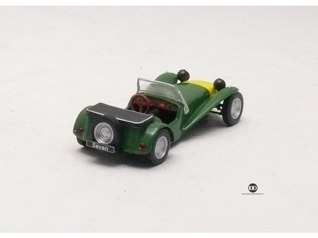 Lotus Seven 1962 zeleno - žlutá 1:43 Car Selection