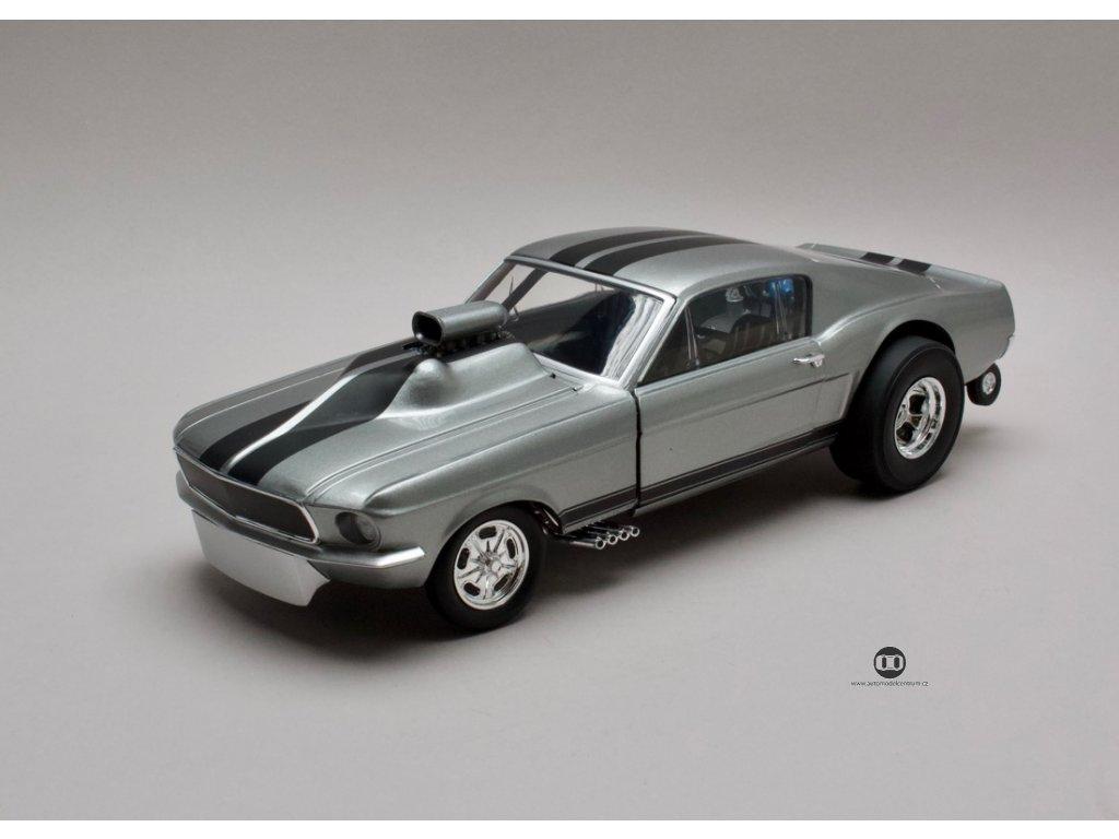 Ford Mustang 1967 Gasser 60 sekund stříbrno-šedá 1:18 GMP