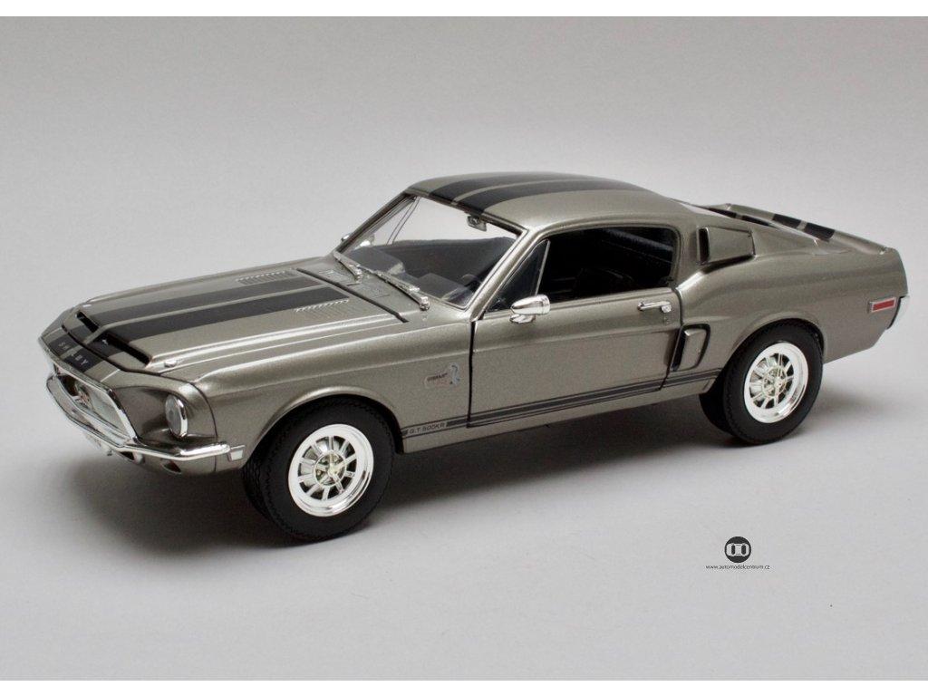 Ford Mustang Shelby GT500KR 1968 wolfram šedá 1:18 Lucky Diecast