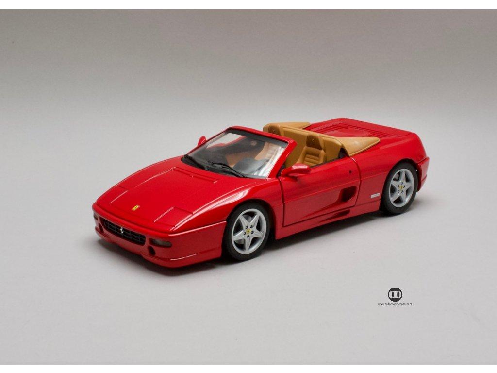 Ferrari F355 Spider 1994 červená 1:18 Hotwheels