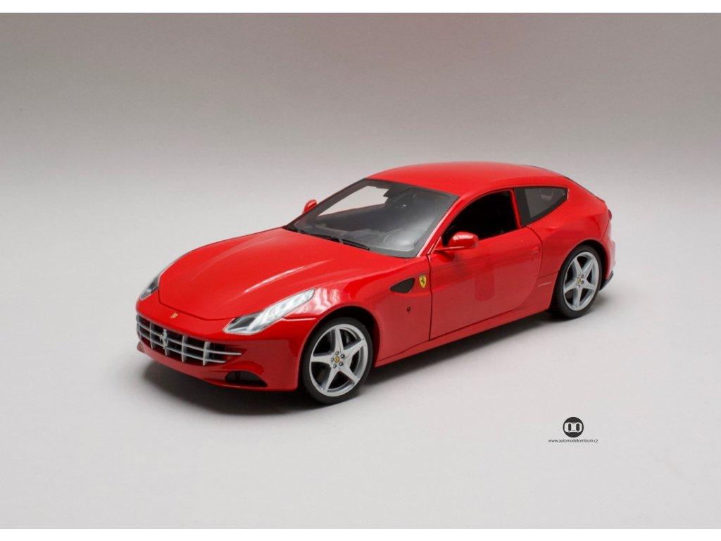 Ferrari FF čtyřmístný GT V12 2011 červená 1:18 Hotwheels