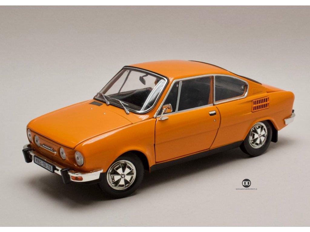 Škoda 110R Coupé 1980 oranžová 1:18 Abrex