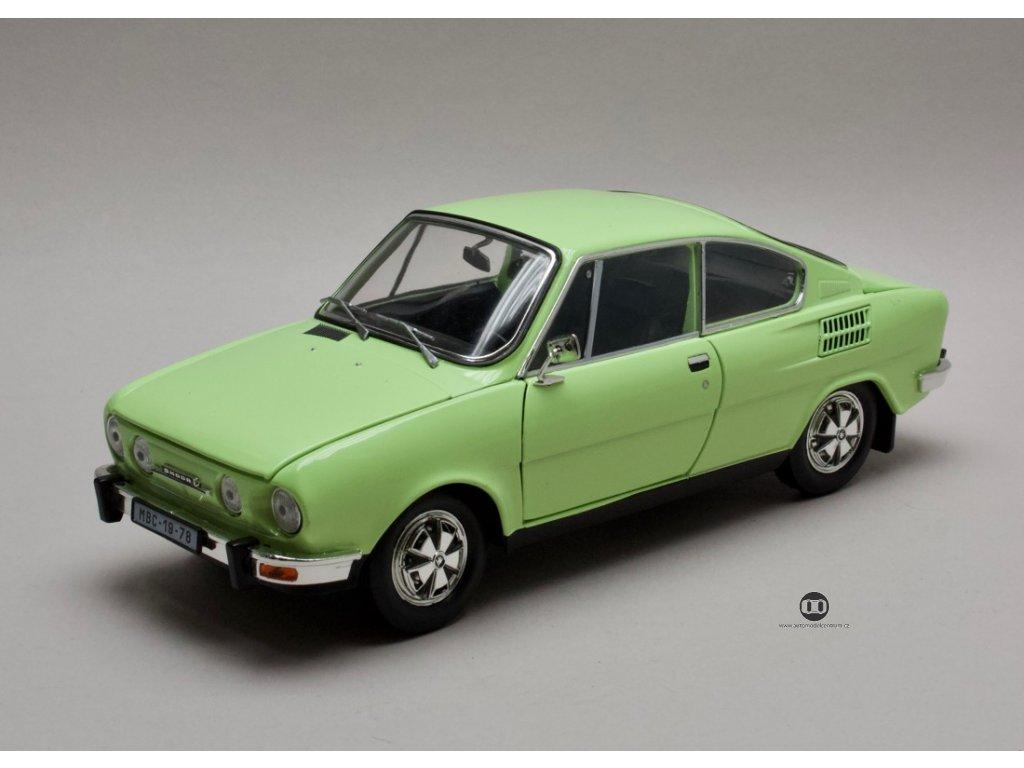 Škoda 110R Coupé 1980 zelená Lipová 1:18 Abrex