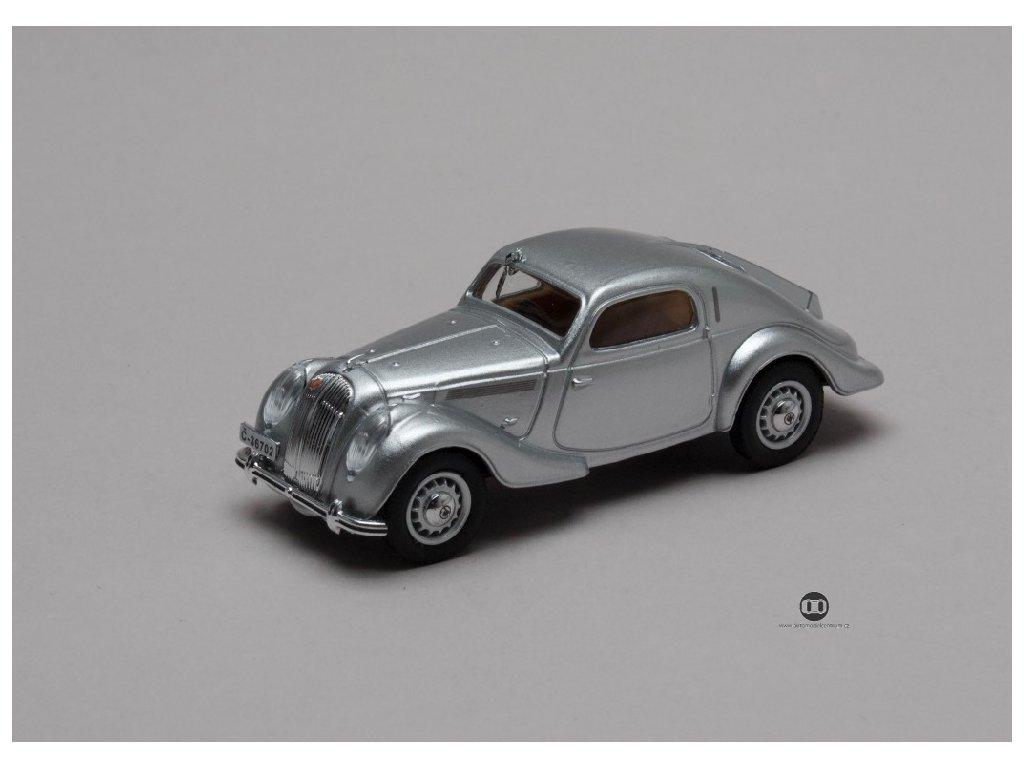 Skoda Popular Sport Monte Carlo 1935 Stribrna 1 43 Abrex 143ABH 903A 01
