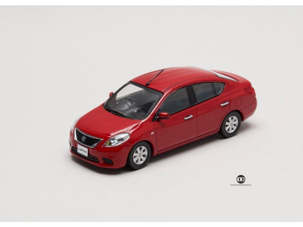 Nissan Latio cervena 1 43 Jcollection 77004RD 01