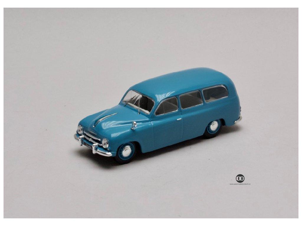 Skoda 1201 Kombi 1954 modra 1 43 WhiteBox WB283 01