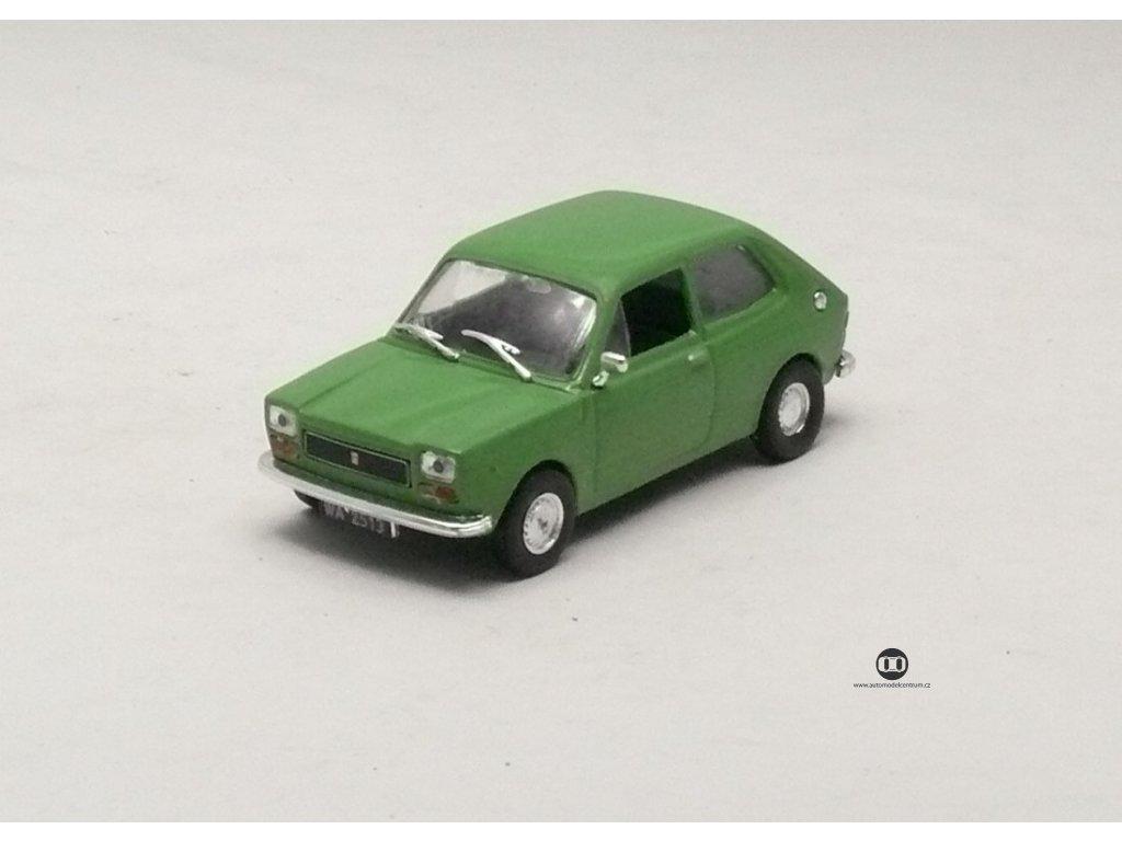 Fiat 127 P 1972 chrom doplňky zelená 1:43 Car Selection