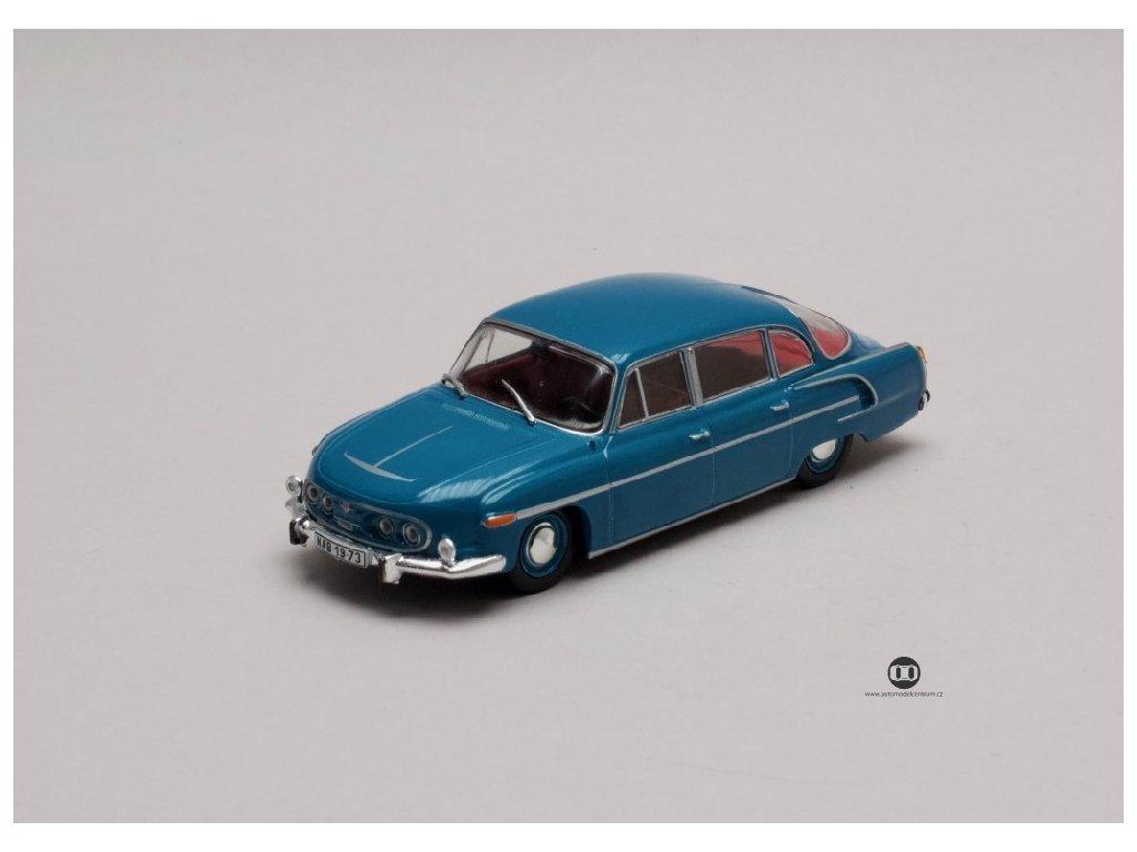 Tatra 603 1969 modra metalic cerveny interier 1 43 Abrex 143ABS 401ME 01